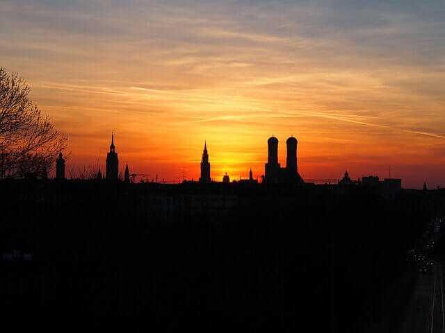 Sonnenuntergang- die besten Immobilien in München in einem besonderen Licht
